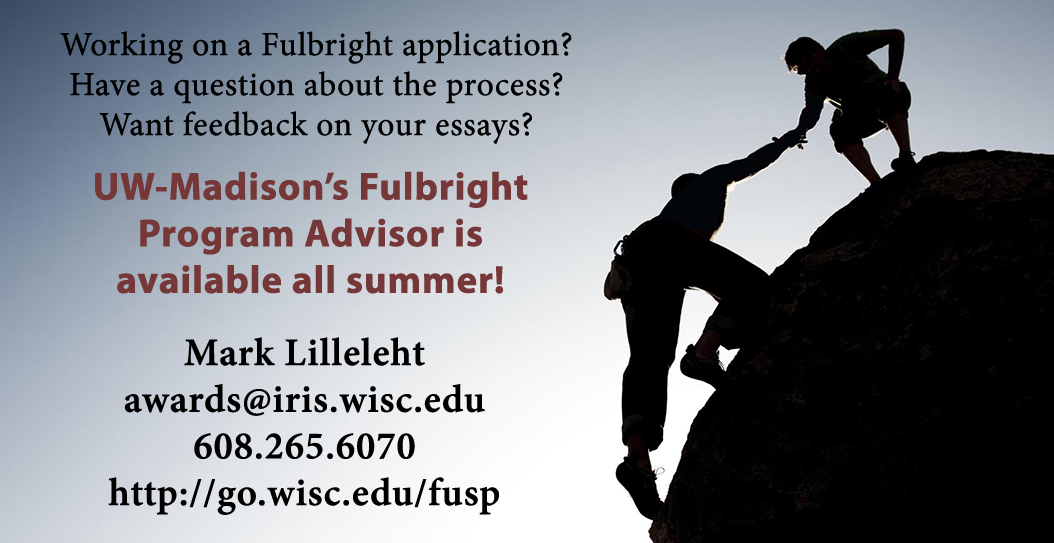 Summer help with Fulbright from UW-Madison